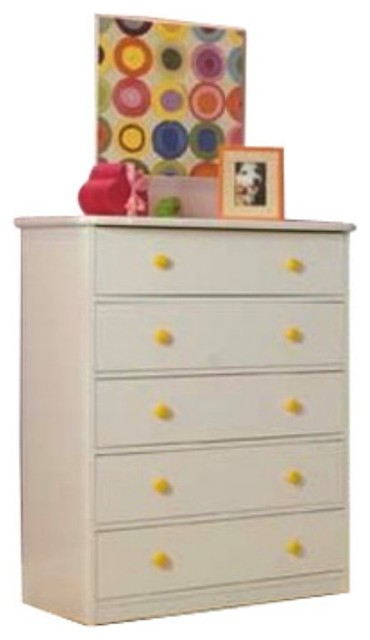Sierra 5 Drawer Chest - White modern-dressers-chests-and-bedroom-armoires