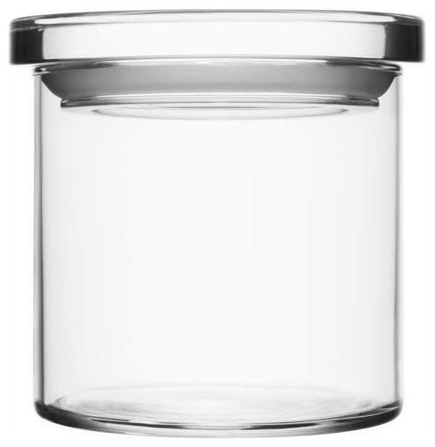 Glass Jars 4 5 X Clear Contemporary Kitchen Canisters And Jars Los Angeles By Fitzsu