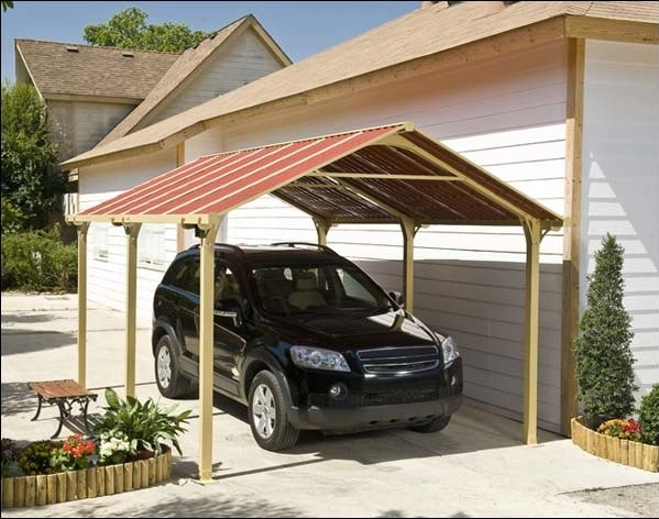 12x20 Garage With Attached Carport Plans Metal Buildings