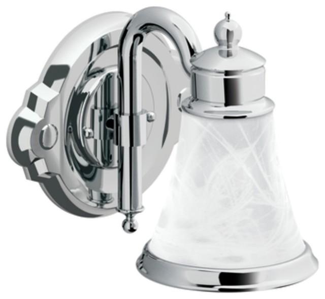 Houzz Bathroom Lighting Fixtures: Moen YB9861CH Waterhill Single Globe Light Bath Fixture In