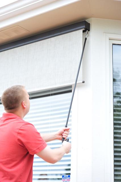Exterior Solar Screen Shades With Crank Control - Modern - Roller ...