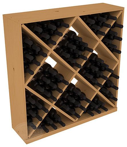 Solid Diamond Wine Storage Cube in Pine, Oak contemporary-wine-racks