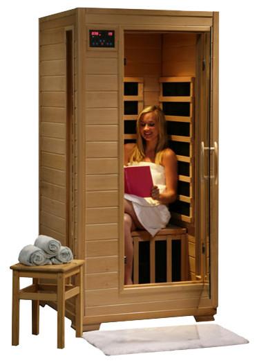 Infrared Sauna With Salt Wall In Nh Hotel Zandvoort The: HeatWave Buena Vista One-Person Infrared Sauna