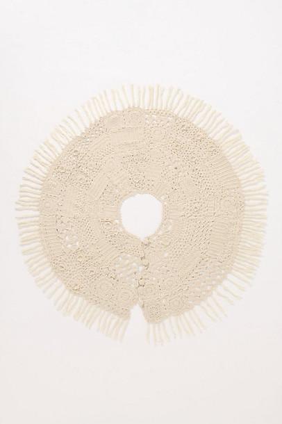 Knitting Circle Tree Skirt, Ivory traditional-christmas-tree-skirts