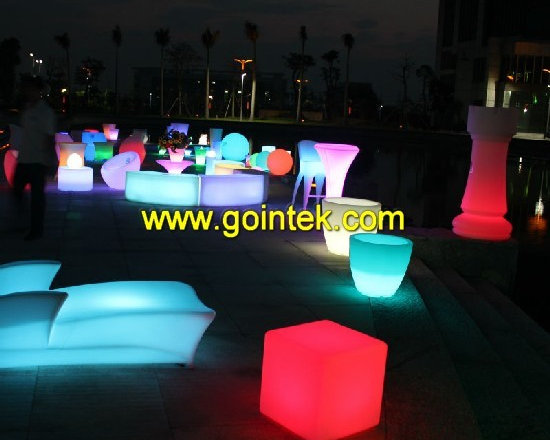 lighting led bar stools with rechargeable battery -