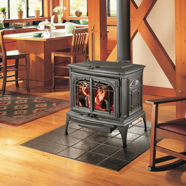 Lopi Leyden Wood Stove traditional-fireplaces