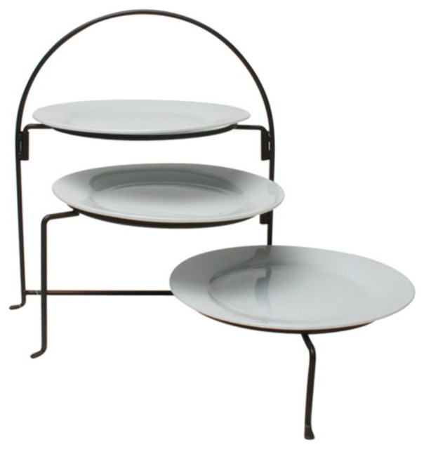 Tag Collapsible 3 Tier Plate Rack - Traditional - Serving ...