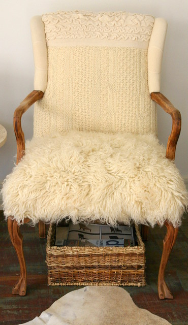 All things Furry & textured The sweater chair front view for sale eclectic-armchairs-and-accent-chairs