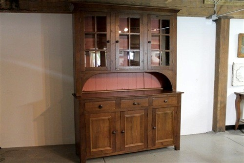 Very Large Rustic Hutch From Reclaimed Wood - Farmhouse - China Cabinets And Hutches - boston ...