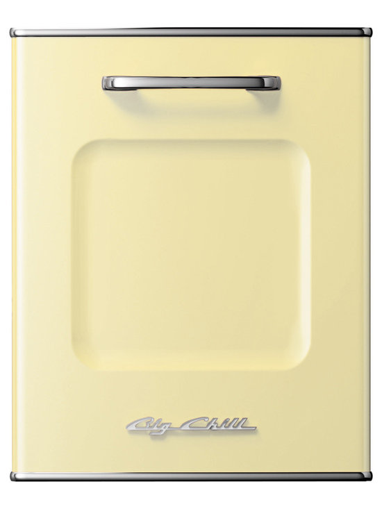 Big Chill Retro Dishwasher Panel- Buttercup Yellow -