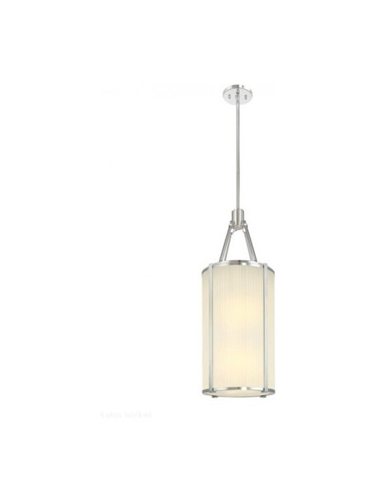 """Sonneman - Sonneman Roxy Lantern Pendant Light - The Roxy Lantern Pendant Light  by Sonneman has been designed by Robert Sonneman. The Roxy Lantern Pendant Light conveys the glamorous elegance of 1940s modernism when deco reigned and luxury was in style. Strong forms and crisp details are set against fabric-like softly fluted glass. Offered in polished nickel with an etched fluted glass shade.  Product description:  The Roxy Lantern Pendant Light  by Sonneman has been designed by Robert Sonneman. The Roxy Lantern Pendant Light conveys the glamorous elegance of 1940s modernism when deco reigned and luxury was in style. Strong forms and crisp details are set against fabric-like softly fluted glass. Offered in polished nickel with an etched fluted glass shade.   Details:      Manufacturer:     Sonneman         Designer:    Robert Sonneman        Made in:    USA        Dimensions:     Height:31"""" (78.74 cm) X Diameter:12.5"""" (31.75 cm ) X CanopyDiameter:5"""" (12.7 cm)       Light bulb:     6 X A19 Medium Base Max 75W Incandescent (not included)        Material:     Fluted Glass"""