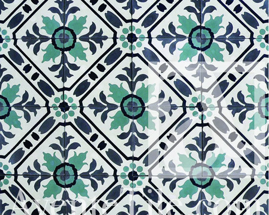 """Traditional Toscana Cement Tile 8"""" x 8"""" -"""