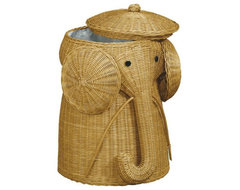 Rattan Elephant Hamper traditional hampers