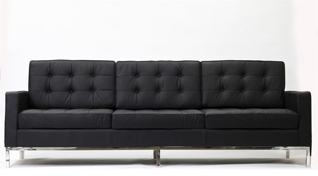 Gallery modern black sofas for Sofa 4 plazas barato