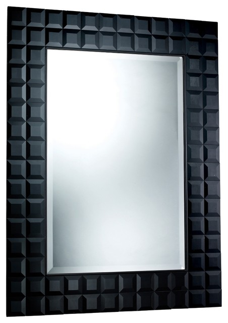 Contemporary helena 36 x 48 black wall mirror for Mirror 48 x 36