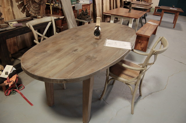 Oval Farm Table Eclectic Dining Tables providence by Lorimer Workshop