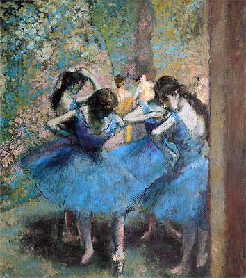 Dancers in Blue, 1890 | Degas | Canvas Print prints-and-posters