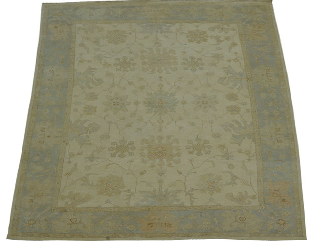 Washed Out Oushak Hand Knotted Rug Oriental Rug Sh10579 transitional-rugs
