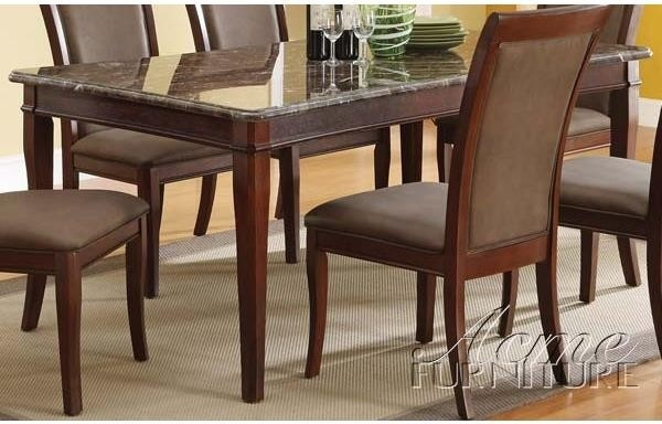 acme furniture danville black marble top dining table