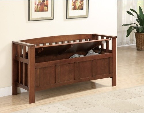 Somerton Wooden Entryway Storage Bench Modern Accent And Storage Benches