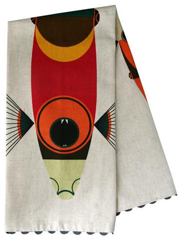 Oldham + Harper Fish Dishtowel contemporary-dish-towels