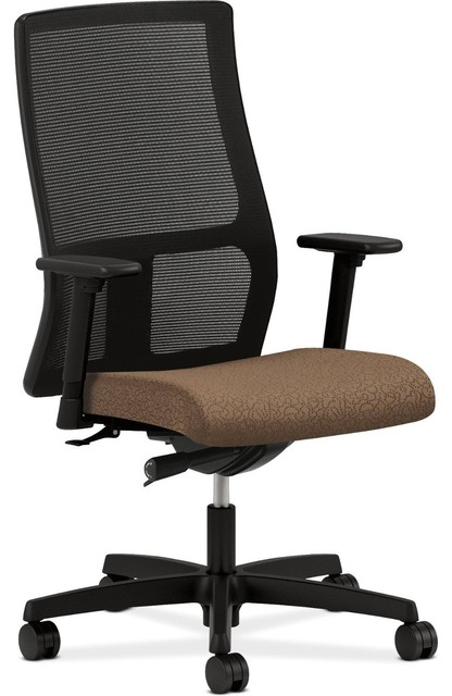Hon Ignition Work Chair With Arrondi Carob Fabric Seat modern-office-chairs