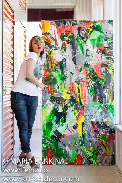 Abstract Action Paintings contemporary-artwork