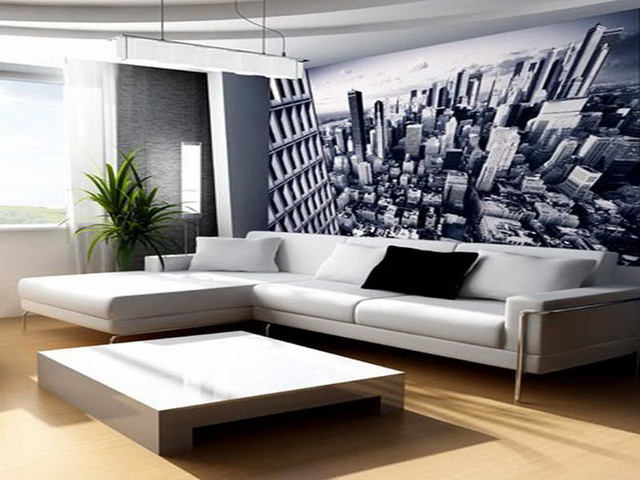 Wall Decor Ideas for Living Room With Mega City Themes ...