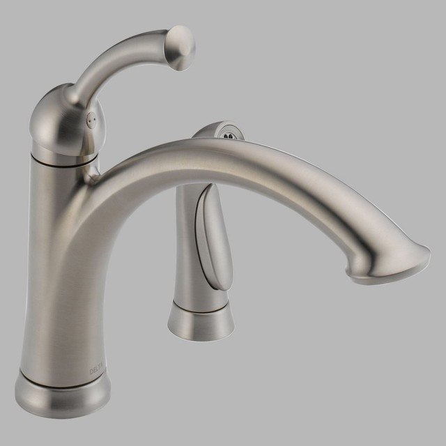 Delta Lewiston 11926 Ss Dst Single Handle Kitchen Faucet With Side Spray