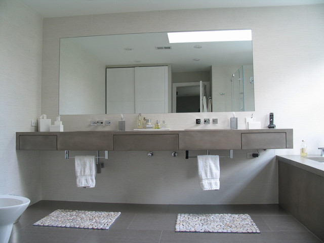 Concrete Bathrooms Contemporary Vanity Tops And Side