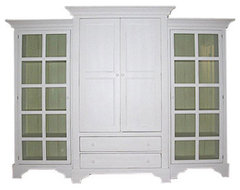 Bradshaw Kirchofer Classic Armoire with Two Curios traditional-storage-units-and-cabinets