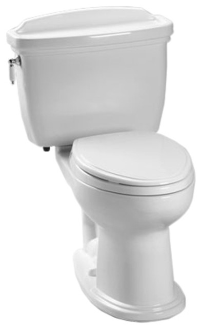 Toto CST754EF#01 Cotton White Eco Dartmouth Toilet, 1.28 GPF ADA traditional-toilets