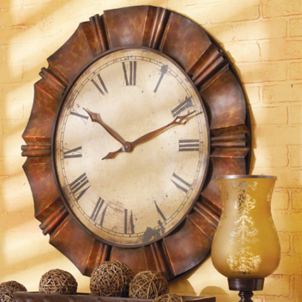 Crimped Frame Wall Clock traditional-clocks