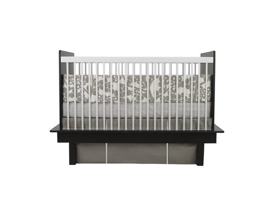 Oilo Taupe Modern Berries Crib Set - Oilo Taupe Modern Berries Crib Set