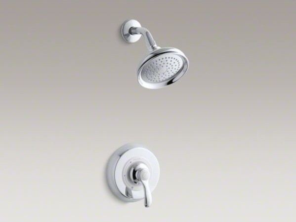 KOHLER Fairfax(R) Rite-Temp(R) pressure-balancing shower faucet trim with lever contemporary-showers