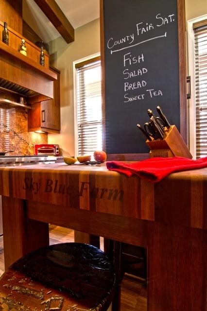 sapele mahogany custom butcher block island countertop