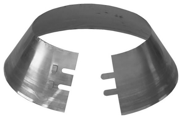 """7"""" Supervent Storm Collar, Galvalume - Modern - Fireplace Accessories - by BuilderDepot, Inc."""