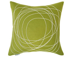 Bholu Nimboo Pillow Olive modern-decorative-pillows