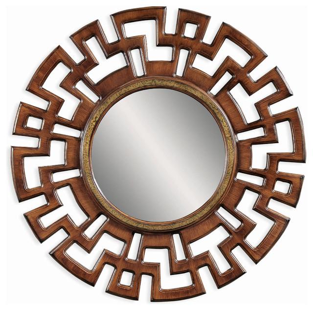 Round Greek Influenced Wall Mirror mediterranean-mirrors
