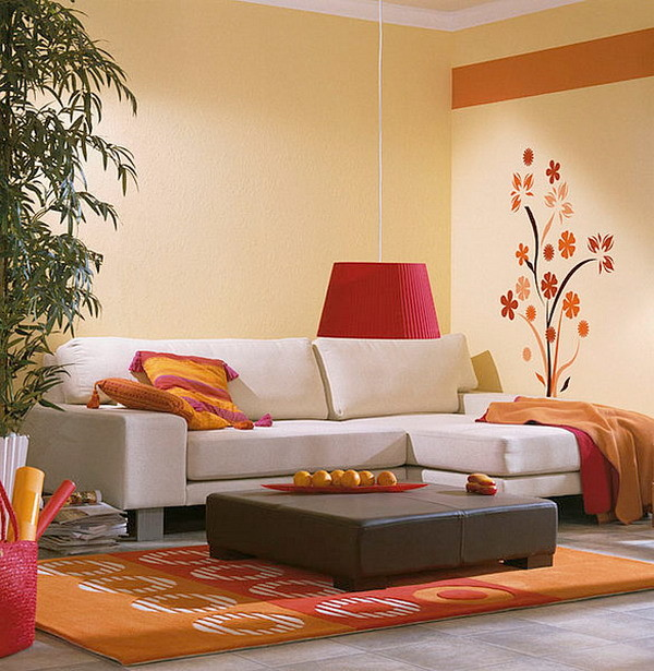 Wall Decor Small Living Room : Wall stickers small living room interior decorating
