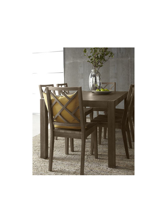 Horchow - Karington Ash Dining Table - Imagine the possibilities—a Parson's style dining table that mixes and matches with other pieces for classic dining. Elegant enough for formal gatherings and durable enough for every day. Handcrafted of ash solids and quartered ash veneers. Finis...