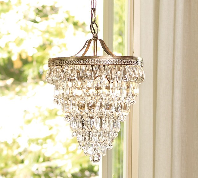 Pottery Barn Bronze Chandelier: Clarissa Glass Drop Chandelier