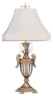 Livex La Bella 8898-65 Table Lamp - Vintage Gold Leaf - 18W in. modern-table-lamps