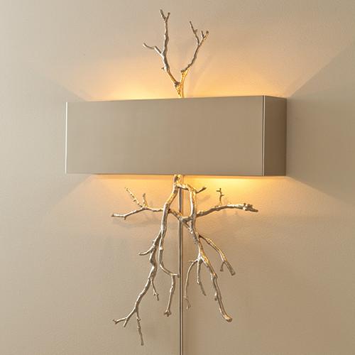 Twig Nickel Wall Sconce: ShopTen 25 | Interior Design Dallas TX |