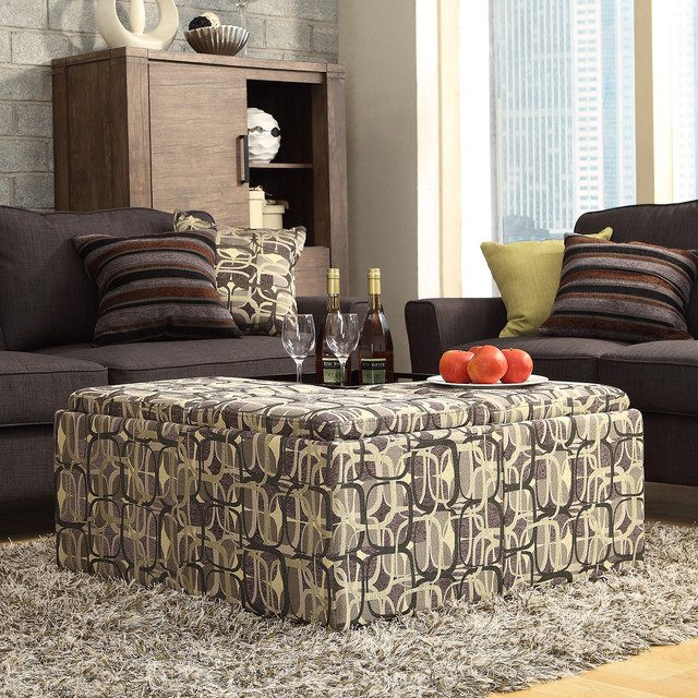 INSPIRE Q Montrose Mod Geometric Storage Cocktail Ottoman contemporary-footstools-and-ottomans