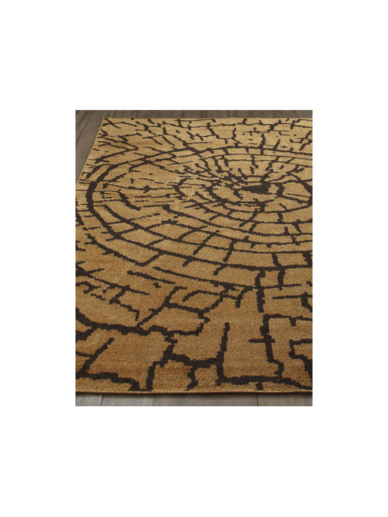 "Safavieh - Safavieh ""Earth"" Rug, 5' x 8' - An elemental design grounded in nature gives this rug a strong presence in any room. Warm earth tones add to its contemporary appeal. Power loomed of polyester. Cotton backing. Size is approximate. Imported."