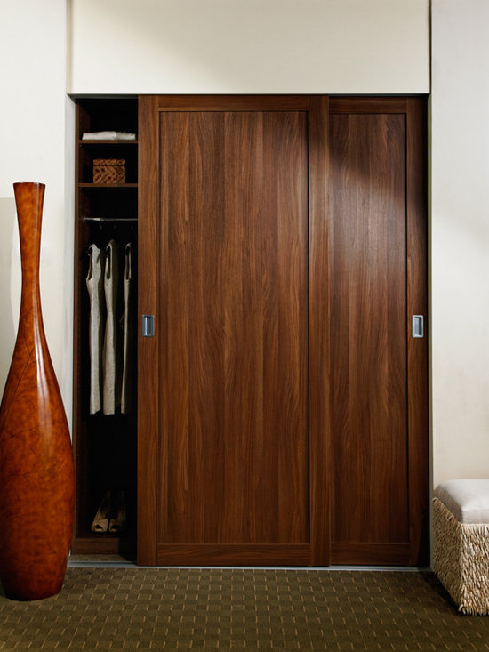 Sliding Doors Shaker Wood Frame -