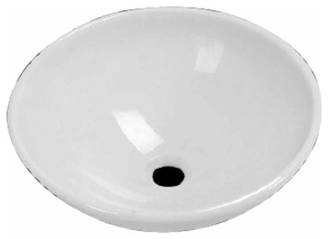 Vessel Sinks White Milk Glass Tempered Round Vessel Sink | 16062 transitional-bathroom-sinks