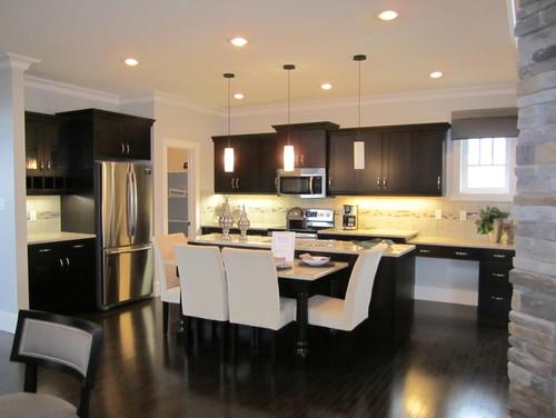 Dark Oak Cabinets or dark Maple Cabinets