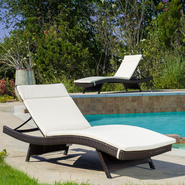 Christopher knight home colored lounge cushion set of 2 contemporary outdoor chaise - Colorful chaise lounge chairs ...